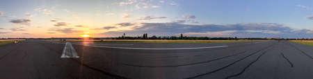 feld: On Tempelhofer Feld on a summer evening in Berlin, Germany.