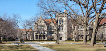 college dorm: On the campus of the University of Chicago in Hyde Park, Chicago, IL, USA. Editorial