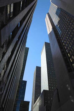Skyscraper architecture in New York, NY, USA.