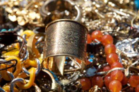 Background blur of vintage jewelry.