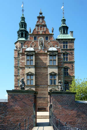 Landmark royal palace Rosenborg Castle in Copenhagen, Denmark. Editorial