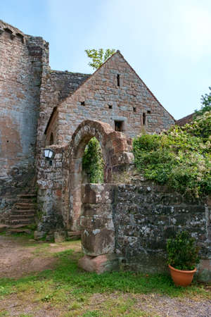 At Madenburg castle ruin near the town of Landau in the Palatinate region of Germany. Stock Photo