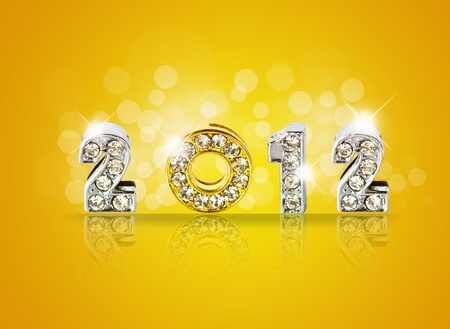 New year 2012 background with back light and place for your text . Stock Photo - 10948891