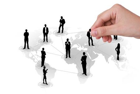 cross linked: Hand pick man of Social Network