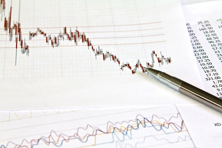 Pen and business graph Stock Photo - 10800090