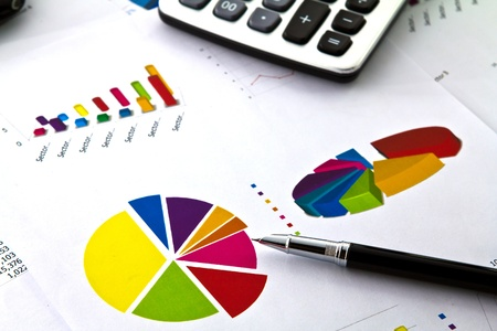 Pen et le graphique d'affaires