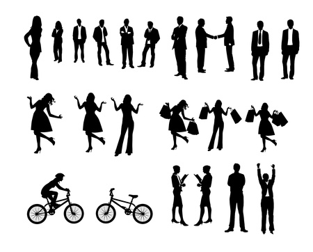 Collection of people silhouettes photo