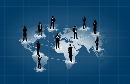 Social network on world map Stock Photo - 10734463