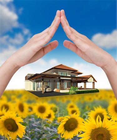 rental house: La casa en la mano