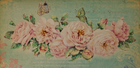 scrapbooking paper: Romantic vintage rose background