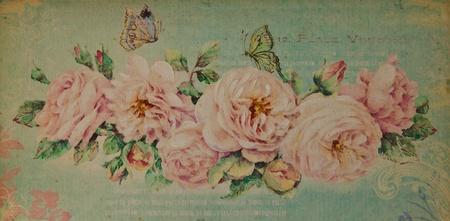 minable: Vintage romantique fond rose Banque d'images