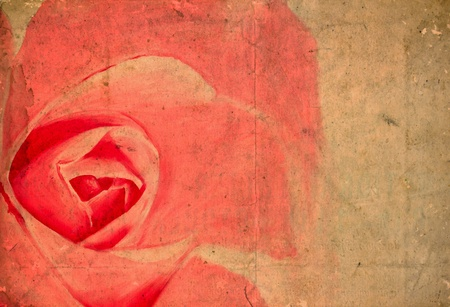 gulab: Oil painting of pink rose Stock Photo