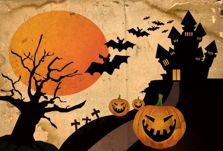 Grunge halloween background photo