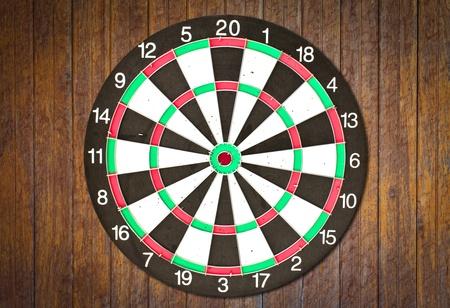Dartboard on wood wall photo