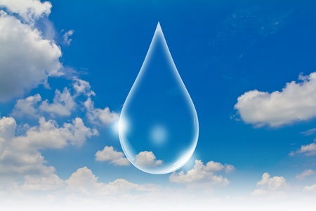 Eco concept : Water drop in the sky photo