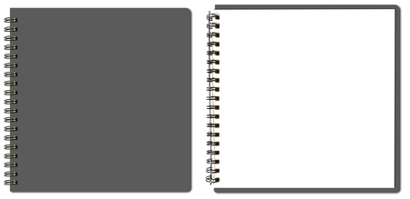 binders: collection of grey sketch book