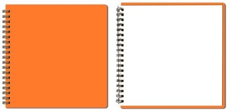 notebook page: collection of orange sketch book