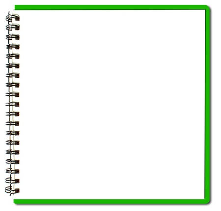 diary page: green sketch book Stock Photo