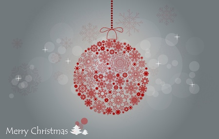 Christmas background with christmas ball. Stock Photo - 11132756