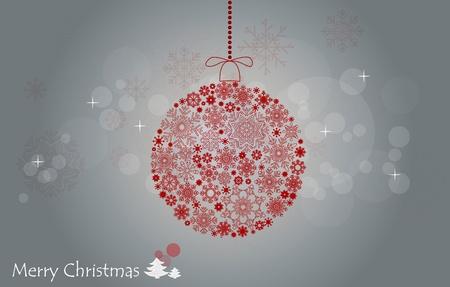 Christmas background with christmas ball. photo