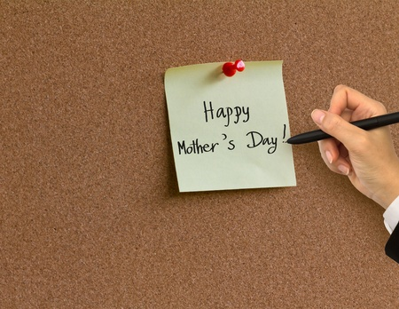 Hand writing  Happy Mother photo