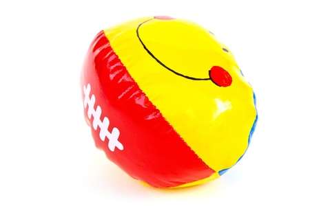 Colourful (Red, Yellow) Toy Ball On White Background Stock Photo - 11113798