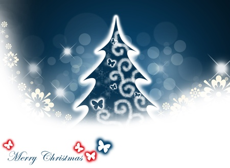 Christmas tree background. photo