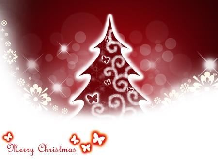 Christmas tree background. photo