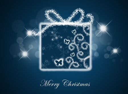 Christmas background with gift box. photo