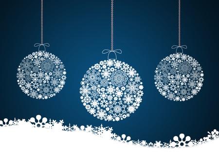 Wesołych Świąt Bożego Narodzenia tło z bombkami.