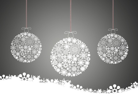 seasonal symbol: Merry christmas background with Christmas balls.