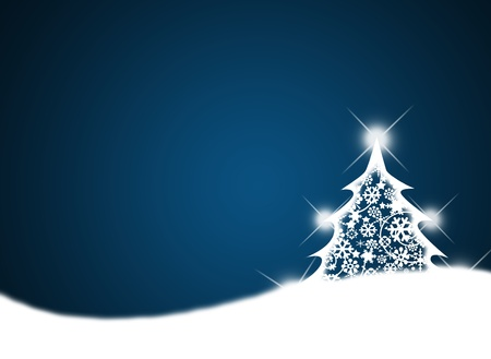 shiny christmas baubles: Merry christmas background with Christmas tree.