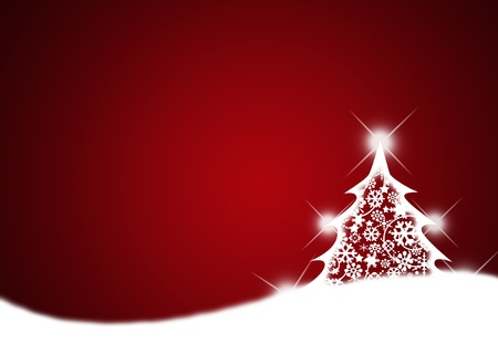 Merry christmas background with Christmas tree.