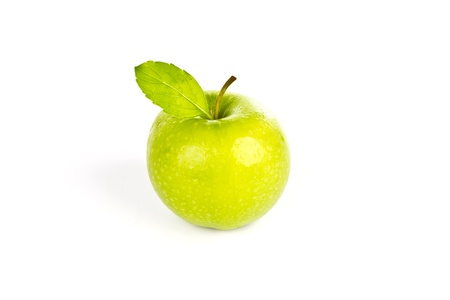 Fresh green apple isolated on white background Stock Photo - 11439618