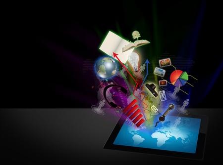 Érintőképernyős tablet számítógép