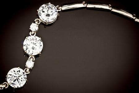 pendants: Diamonds bracelet  on the black