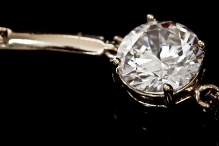 Diamonds bracelet  on the black Stock Photo - 11993579