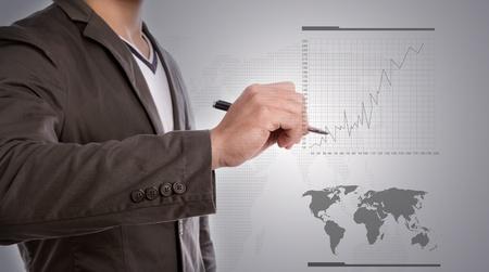 Business hand write graph photo