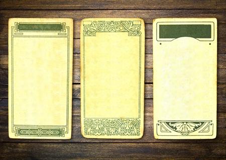Vintage postcard  on wood Stock Photo - 12343761