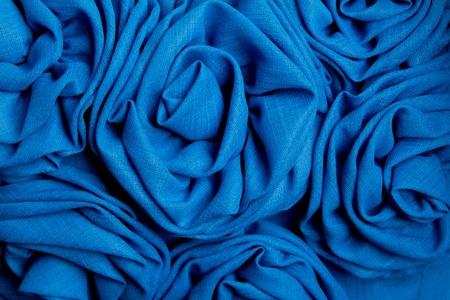 Blue rose fabric  background photo