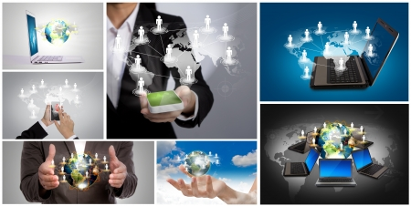Collection of  social networking concept Stock Photo - 12775707