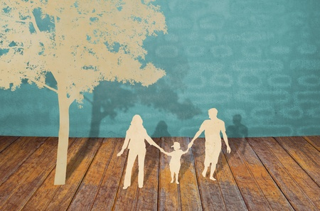 Paper cut of family symbol Stock Photo - 12775722