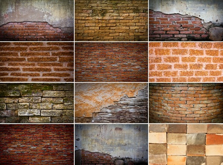 Collection of brick wall Stock Photo - 13213636