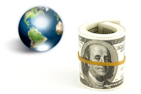 Dollar and earth (Elements of this image furnished by NASA) Stock Photo - 13213417