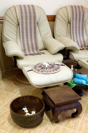 parlor: Foot massage chair in spa room