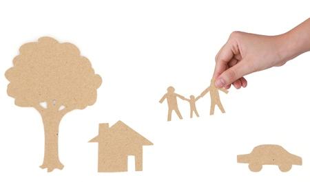 adulthood: Paper cut of family symbol