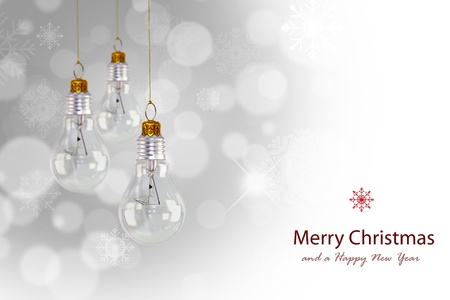 Light bulb christmas decoration Stock Photo - 13627822