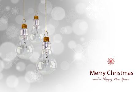 Light bulb christmas decoration Stock Photo - 13627822