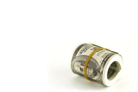 Dollars on white background photo