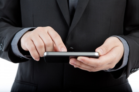 Business man with mobile phone Stock Photo - 13783404